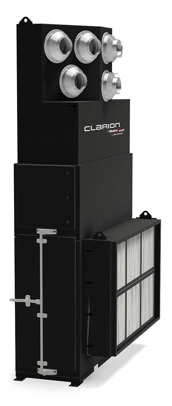RoboVent Vortex System: Facilty-wide Ambient Air Ventilation,