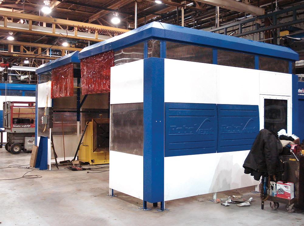 RoboVent Flexan Enclosure for Welding Statons