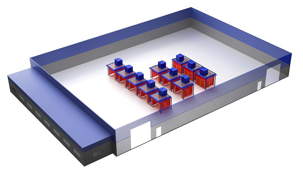 RoboVent FloorSaver: Weld Fume & Dust Source Capture Configurations