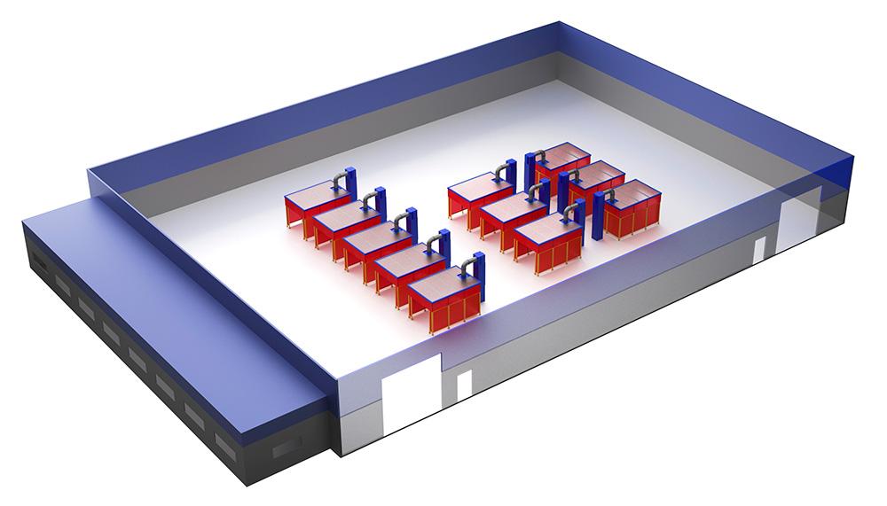 RoboVent Spire Series: Flexible Weld Cell Collectors